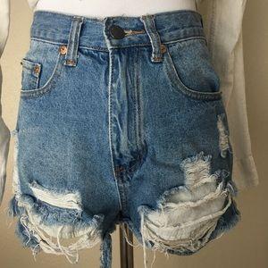 Nasty gal denim shorts
